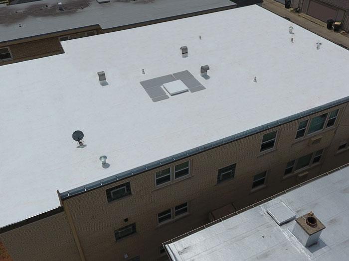 Matthews Roofing Chicago Elmwood Project
