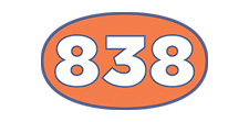 838 Roofing Logo